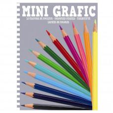 Djeco - Farveblyanter mini - 12 stk. - (Fåes også med navn)