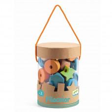 Djeco - Motorisk legetøj - perle sæt i træ - Filacolor