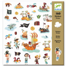 Djeco - Klistermærker - Pirater