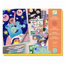 Djeco - Kreativ æske - Tegnesæt - Spiraler, 10 temaer