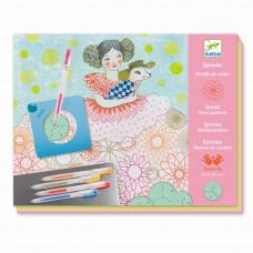 Djeco - Kreativ æske - Tegnesæt - Spiraler, Kjolemønstre