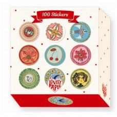 Djeco - Lovely Paper - Klistermærker 100 stk. - Aurelia
