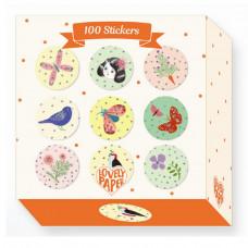 Djeco - Lovely Paper - Klistermærker 100 stk. - Chichi