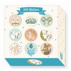 Djeco - Lovely Paper - Klistermærker 100 stk. - Lucille
