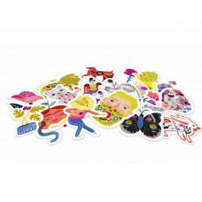 Djeco - Lovely Paper - Klistermærker 50 stk. - Sarah