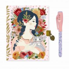 Djeco - Lovely Paper - Dagbog med lås og magisk pen - Oana