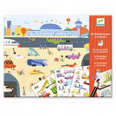 Djeco - Overføringsbilleder - Bag rattet