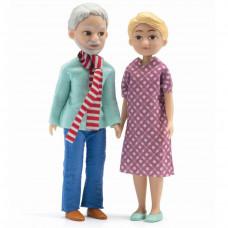 Djeco - Petit Home - Dukkehus dukker -Bedsteforældre til dukkehus