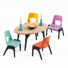 Djeco - Petit Home - Dukkehus møbler - Spisestue