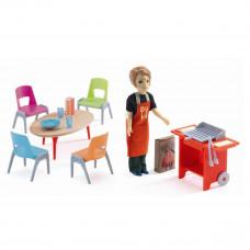 Djeco - Petit Home - Dukkehus møbler - Grill og tilbehør