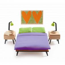 Djeco - Petit Home - Dukkehus møbler - Forældresoveværelse