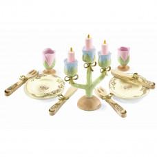 Djeco - Legekøkken - Spisestel i træ - Prinsessesæt