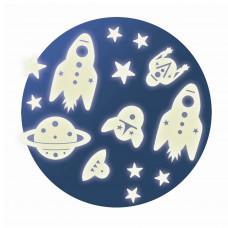 Djeco - Selvlysende stickers til væg og loft - Rummet
