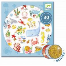 Djeco - Klistermærker - Glitter - Havets drøm