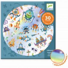 Djeco - Klistermærker - Holografisk - Intergalaktisk