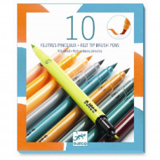 Djeco - Tuscher Naturfarver -  2 i 1 - 10 farver