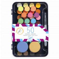 Djeco - Farvelade - 50 farver