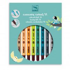 Djeco - Tusser Naturfarver -  2 i 1 - 10 farver