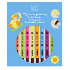 Djeco - Tusser - Pop farver -  2 i 1 -10 farver