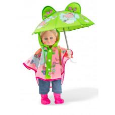 Dukke tilbehør - Dukketøj - Regnsæt med paraply
