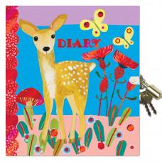 eeBoo - Dagbog med lås - Bambi