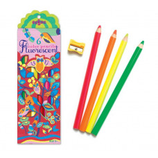 eeBoo - Neon farveblyanter - Ugler 6 stk (Fåes også med navn)