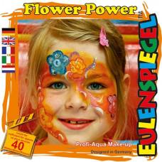 Eulenspiegel - Ansigtsmaling - Sminke palette - Flower power