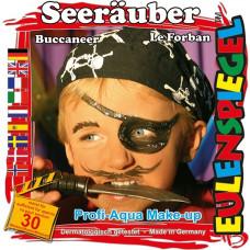 Eulenspiegel - Ansigtsmaling - Sminke palette - Pirat