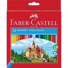 Faber-Castell - Farveblyanter - Slot hexagonal 24 stk. (Fåes også med navn)