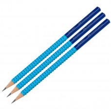 Faber-Castell - Blyanter grip - Blå - 3 stk. (Fåes også med navn)