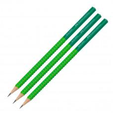 Faber-Castell - Blyanter grip - Grøn - 3 stk. (Fåes også med navn)