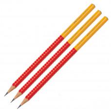 Faber-Castell - Blyanter Grip - Rød/Gul- 3 stk. (Fåes også med navn)