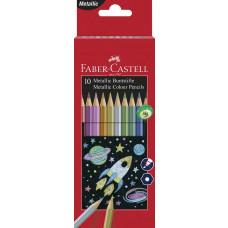 Faber-Castell - Farveblyanter metallic - 10 stk - (Fåes også med navn)
