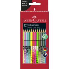 Faber-Castell - Farveblyanter - Grip 2001 Neon - Pastel - Meatallic - 12 stk - (Fåes også med navn)