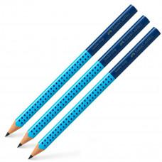 Faber-Castell - Jumbo blyanter - Blå - 3 stk. (Fåes også med navn)