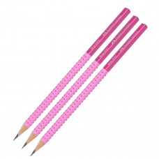 Faber-Castell - Jumbo blyanter - Grøn - 3 stk. (Fåes også med navn)