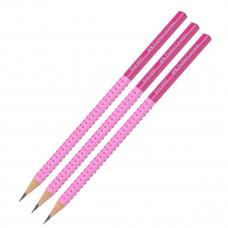 Faber-Castell - Blyanter grip - Pink - 3 stk. (Fåes også med navn)