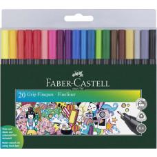 Faber-Castell - Ergonomiske FineLine Tusser 0,4 mm - 20 stk