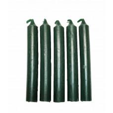 Fødselsdagslys - gennemfarvet mørkegrøn