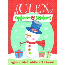 Forlaget Bolden - Kalendergave - Julemalebog med klistermærker - Julens opgaver & stickers