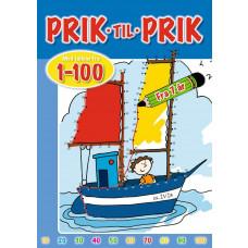 Forlaget Bolden - Malebog - Prik til Prik 1-100 - Skib