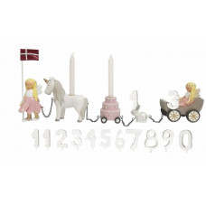 Kids by Friis - Fødselsdagstog m. 11 tal - Blomsterfeer