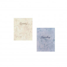 Gæstebog med navn - Barnedåb - Creme el. dusty blue