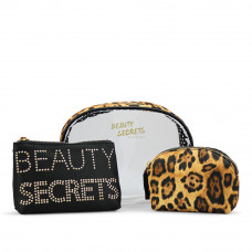 Gillian Jones - Toilettaske - Beauty Secrets - 3 - delt - Leopard