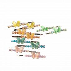 Hårspænder - Hårpins - Sommerfugl med glimmer og sten