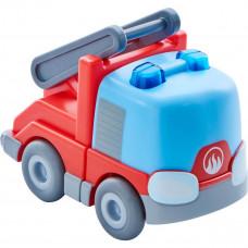 HABA - Kullerbü kuglebil til kuglebane - Brandbil med stige