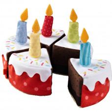 HABA - Legemad i stof - Fødselsdags kage med lys