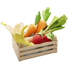 HABA - Legemad i stof - Kasse med årstidernes frugt & grønt