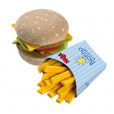HABA - Legemad i stof - Hamburger og pommes frites