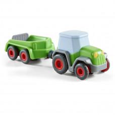 HABA - Kullerbü kuglebil til kuglebane - Traktor med vogn